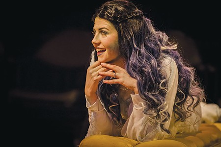 HAUNTING GROUND Sydney Schwindt plays the spectral Elvira in 'Blithe Spirit.' - KURT GONSALVES