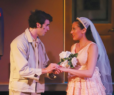 Star-Crossed Jonah Robinson and Carmen Mitchell face a Shakespearian situation in 'West Side Story.' - ERIC CHAZANKIN