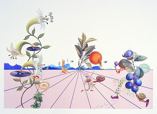 """Flordali I"" by Salvador Dalí. Credit to editor W.U.C.U.A. Jean P. Schneider."