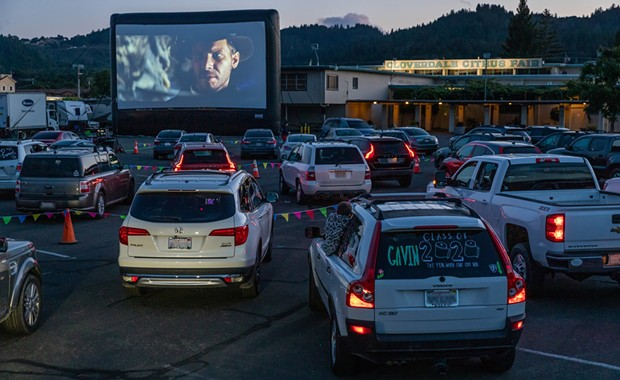 Alexander Valley Film Society hosted its first drive-in of the summer earlier this month in Cloverdale. - PHOTO BY PAUL JACKMAN | FUNFLICKS