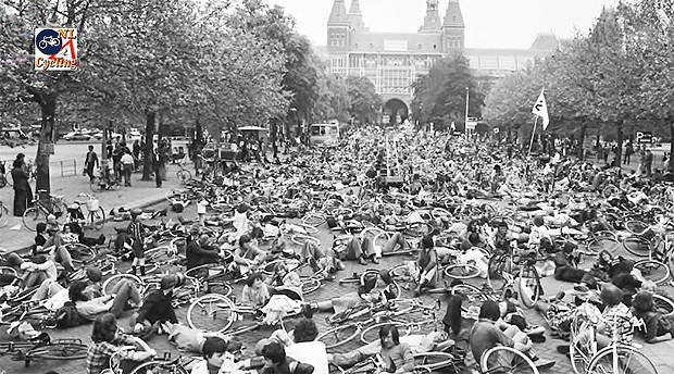 The 1972 Stop Kindermood protests in Amsterdam.