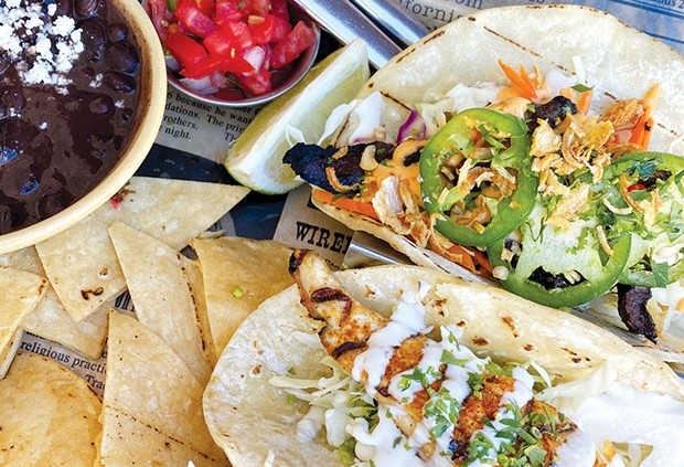 The fish tacos at Corte Madera's Pacific Catch. - KARY HESS