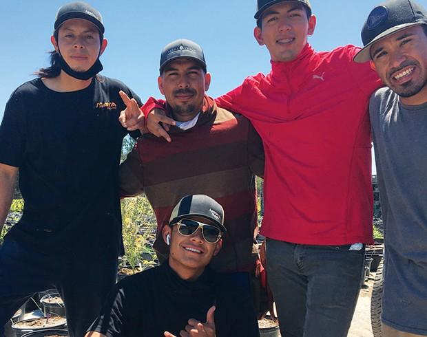 Ivan Escobar (bottom) and friends.