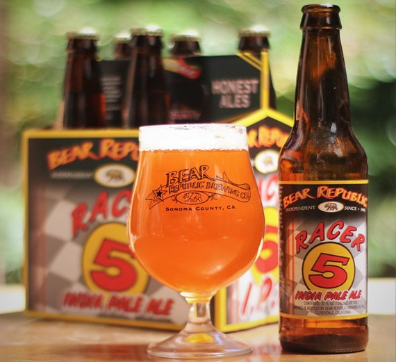 Enjoy a Racer 5 IPA for 1995 prices during Bear Republic's throwback event on Aug 21. - PHOTO COURTESY BEAR REPUBLIC BREWING COMPANY