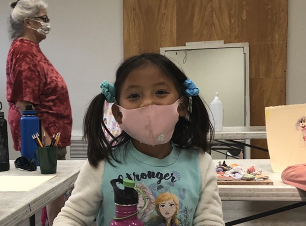 A Sonoma County child participates in Sebastopol Center for the Arts' summer camp this past July. - PHOTO COURTESY SEBASTOPOL CENTER FOR THE ARTS