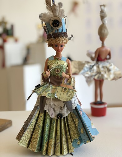 'Barbie: Reclaimed & Reinvented' showcases recycled dolls in handmade dresses online Nov. 14-21. - PHOTO COURTESY SONOMA COMMUNITY CENTER