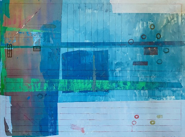 """Jamesey's """"Pandemic Blue #1"""" was selected out of 11,000 entries for display in the de Young Museum's open exhibit."""