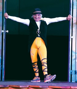 HOT PANTS Alan Kaplan rocks the Lycra as Malvolio in 'Twelfth Night.' - ALBERT CASSELHOFF