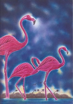 """FLAMINGOS"" BY UVALD NEVAREZ"