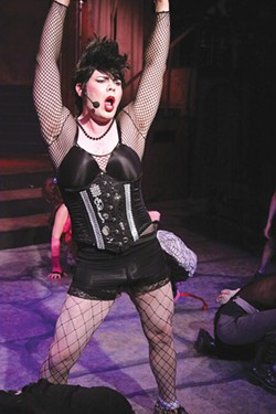 TIME WARPER Rob Broadhurst reprises his role as Dr. Frank N. Furter in 'Rocky Horror.' - ERIC CHAZANKIN