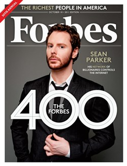 Parker's a member of the Forbes 400, or was that 420?