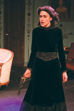 LOVE GUN Taylor Diffenderfer plays a mourning widow in 'The Bear.' - ERIC CHAZANKIN