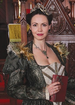 OFF WITH HER HEAD But not before Anne Boleyn (Liz Sklar) has some naughty fun. - KEVIN BERNE