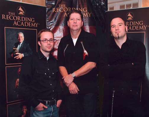 Piercey, center, with his band the bluenotecats