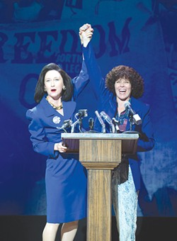 PRO-CHOICE Sarah Weddington (Sarah Jane Agnew) and Norma McCorvey (Sara Bruner) join forces in 'Roe.' - JENNY GRAHAM