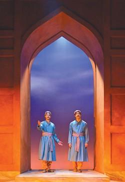 BIZARRE BEAUTY Rushi Kota and Jason Kapoor anchor the superb 'Guards at the Taj.'
