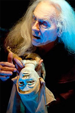 STAGE OF FOOLS Conrad Bishop plays an eerie 'Lear' in Independent Eye production.