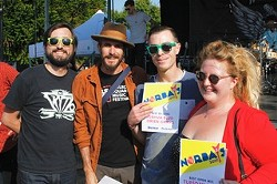 Charlie Swanson, left, mugs with NorBay winners Joshua Windmiller, Joshua Bluegreen-Cripps and Isabelle Garson. - JOSHUA BLUEGREEN-CRIPPS