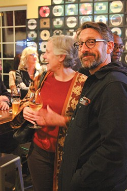 SHOWSTOPPERS Sheri Lee Miller and Jeff Coté mix it up at the MTJA awards.