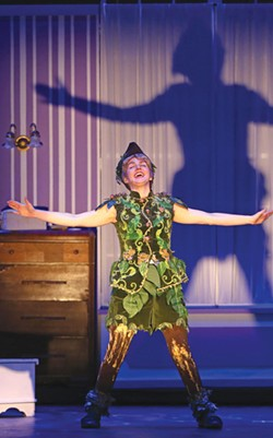 SHADOW SEEKER Sarah Wintermeyer is great in the title - role of 'Peter Pan.' - JEFF THOMAS