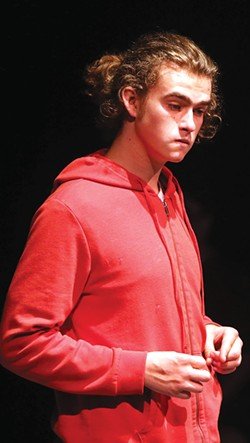 A BOY AND A DOG Elijah Pinkham inhabits his role in 'Curious Incident.' - JEFF THOMAS