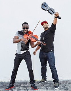 STRING THEORY< Wil B. and Kev Marcus combine classical training with hip-hop influences. - COLIN BRENNAN