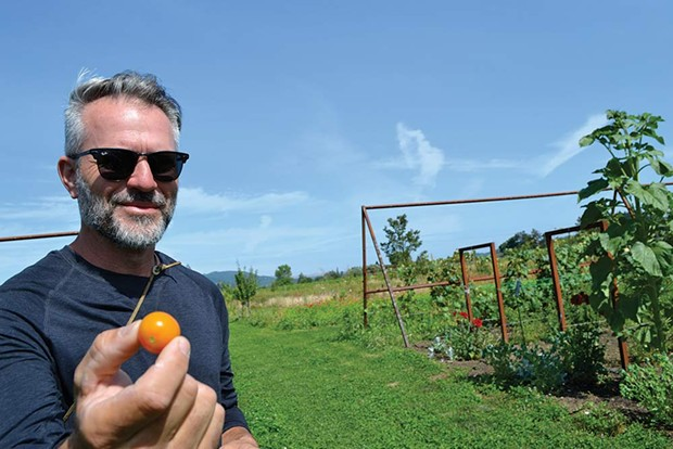 Outstanding in his Field  CEO and head gardener Christopher Adjani says Noci will offer u-pick fruit - and vegetables as well as activities like volleyball and movie nights.