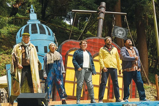 Ahoy!  The cast of SF Mime Troupe present a new outdoor theater experience in Sonoma County - this fall. - MIKE MELNYK