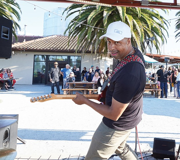 Party Band The Dylan Black Project rock the NorBay Music Awards party after winning for best blues band. - ROB MARTEL