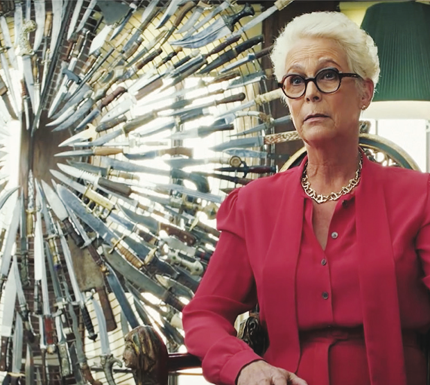Scream Queen Jamie Lee Curtis is the matriarch of a suspicious family in 'Knives Out.'