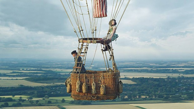 GETTING HIGH Eddie Redmayne and Felicity Jones hang out in a big balloon for most of 'The Aeronauts.'