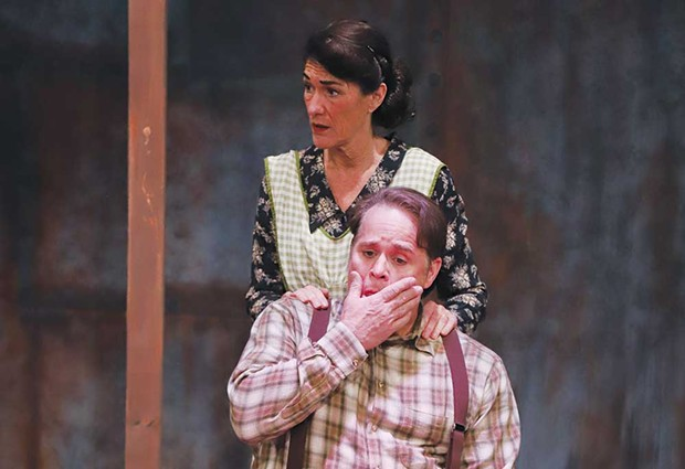 GUT PUNCH Edward McCloud and Mary DeLorenzo star in a stripped-down 'A View from the Bridge.' - ERIC CHAZANKIN