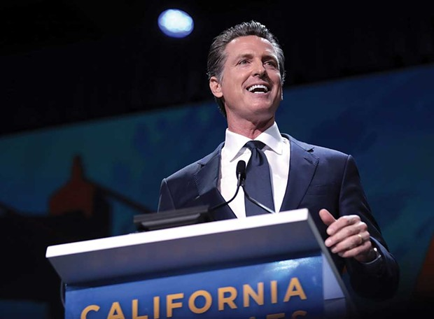 EXECUTIVE Gov. Gavin Newsom addresses attendees of the 2019 California Democratic Party State Convention. -  - GAGE SKIDMORE/FLICKR