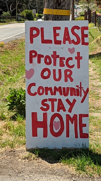 A sign outside Point Reyes Station makes plain a local sentiment. - DAEDALUS HOWELL