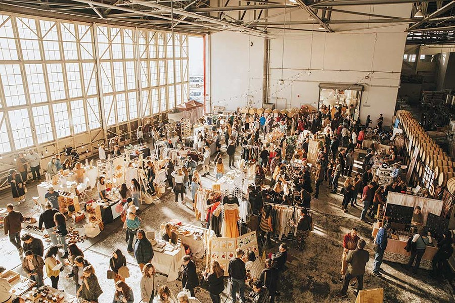 Shoppers peruse the wares of Studio Y at a recent installment of Head West Marketplace, before the Covid-19 pandemic stalled the event. - SERGIO AGUAYO