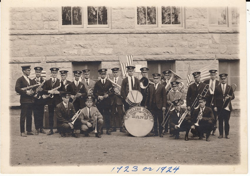 "This photo of the St. Helena Concert Band, circa 1923-24, is featured in the new exhibit ""Who Tells Our Story"" in Napa."