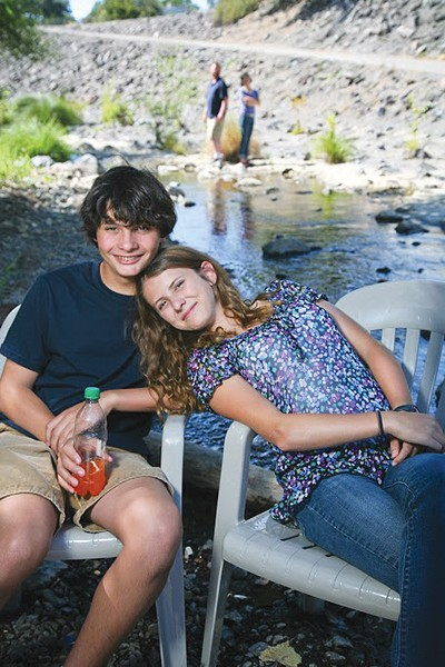STAGE FRIENDS Jack Wolff and Lucy London play Eric and Bella, the young versions, in 'Yesterday Again.'