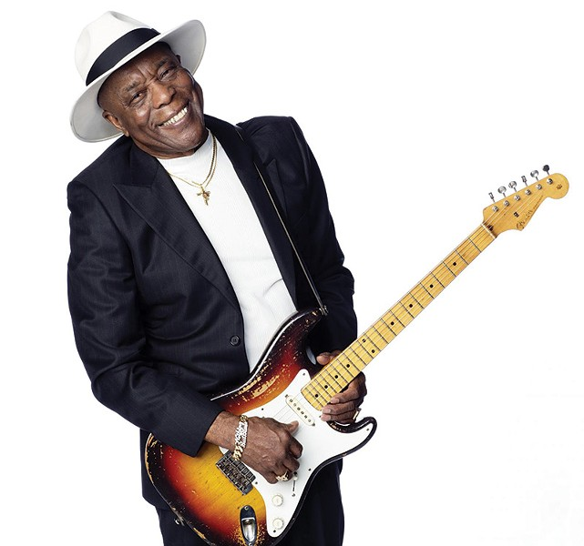 HOODOO BLUES Guitar legend Buddy Guy is one of many celebrated artists returning to Johnson's Beach for the Russian River Jazz & Blues Festival, Sept. 12–13.