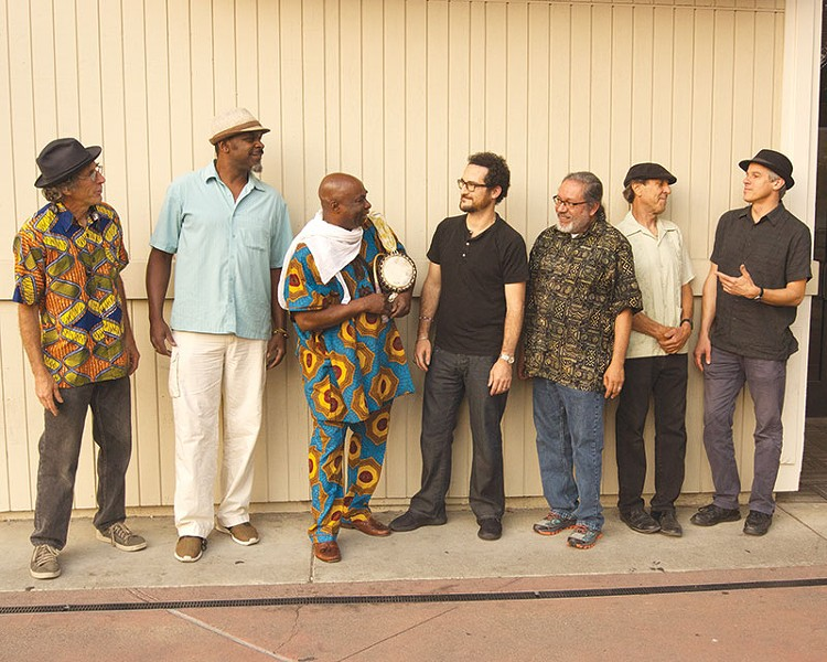 STRONG SONGS Onye Onyemaechi (third from left) sees music as a tool of self-empowerment.
