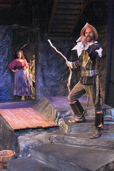 EXCELENTE Daniela Innocent-Beem (Aldonza) and Daniel Cilli (Don Quixote) both shine in 'La Mancha.' - ERIC CHAZANKIN