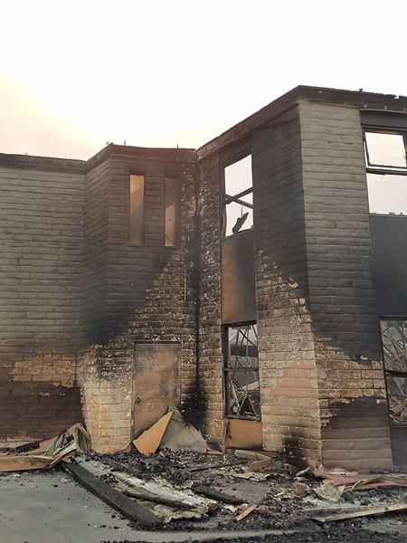 The Luther Burbank Center's Left Edge Theatre was a total loss, but the main auditorium suffered minor damage. - STETT HOLBROOK
