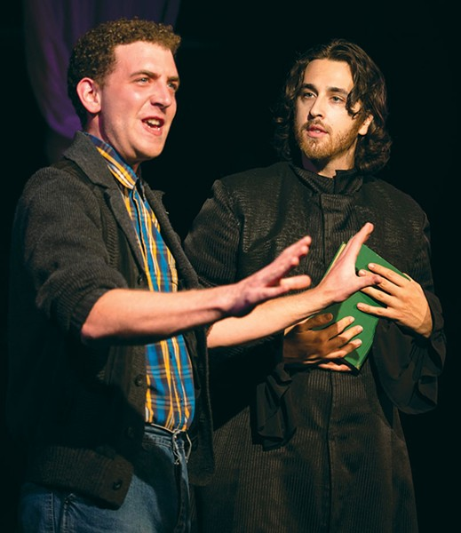 LOVELORN Lucas Brandt, left, - looks to Sergey Khalikulov for help in 'The Fantasticks.' - VICTORIA VON THAL