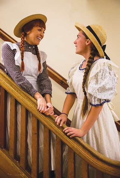GO GREEN Melody Payne and Rachel Davidson win audiences over in Sonoma Arts Live's production of 'Anne of Green Gables.' - MILLER OBERLIN