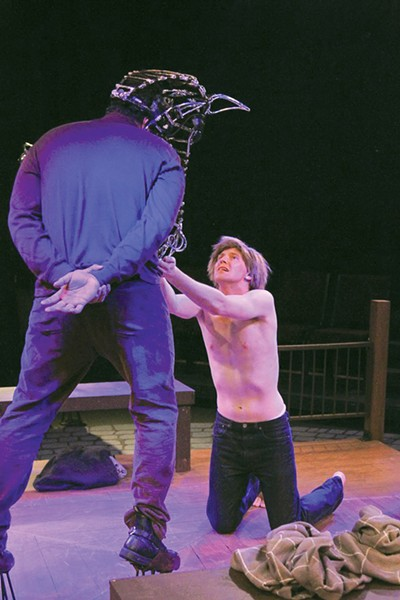 HIGH HORSE Martin Gilbertson and Ryan Severt stunned audiences in 6th Street's 'Equus' last year.