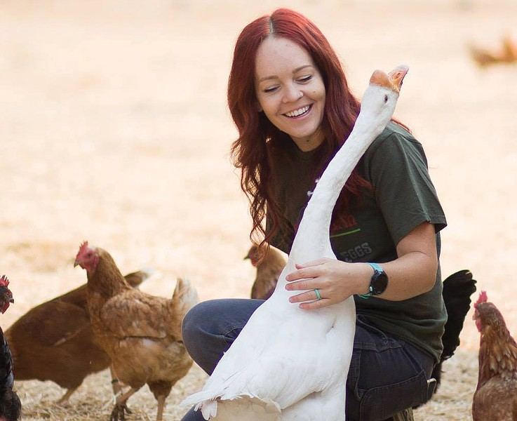 Brain for Birds Tiffany Holbrook traded her teaching career for a farm life.