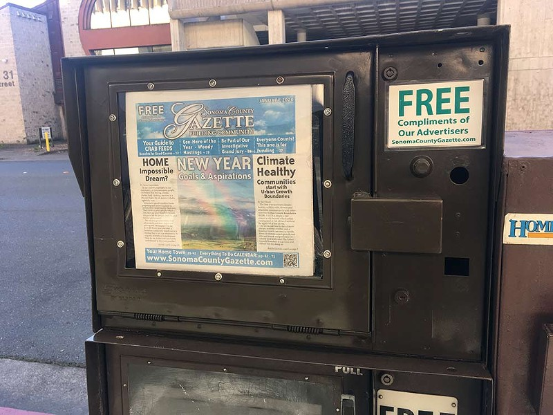 CONSOLIDATION The Sonoma County Gazette's founder is hopeful the new owners will maintain the paper's community connections.