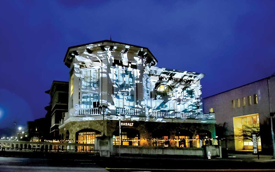 Light Bright Downtown Napa glows with art installations projected onto several historical buildings all this week. - PHOTO COURTESY CITY OF NAPA