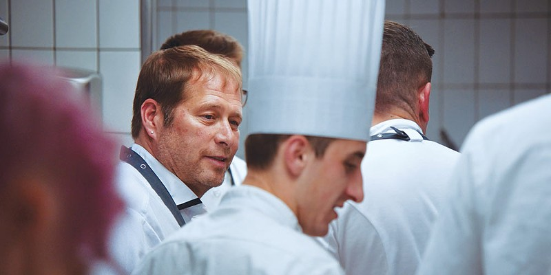 Chef David Kinch working with the French Team in 'A Chef's Journey.'