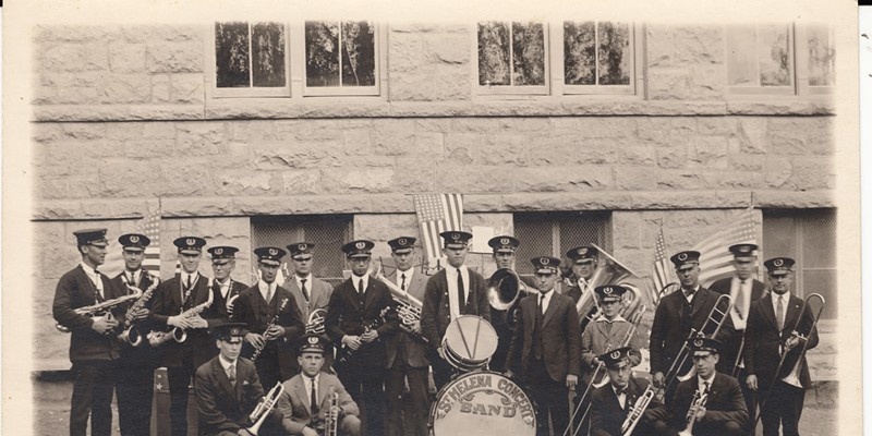 """This photo of the St. Helena Concert Band, circa 1923-24, is featured in the new exhibit """"Who Tells Our Story"""" in Napa."""