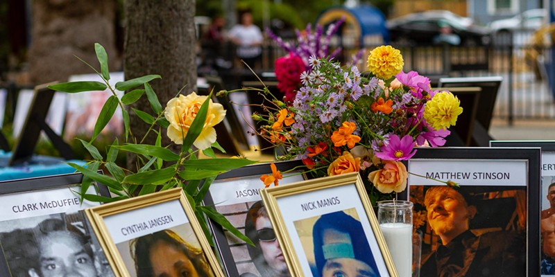 Organizers of an Oct. 22 event displayed images of people who died on Sonoma County's streets over the past eight years.